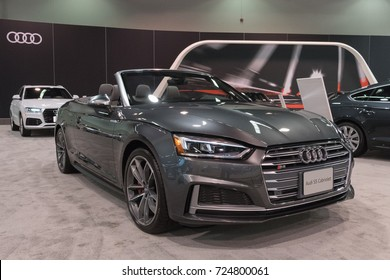 Anaheim - USA - September 28, 2017: Audi S5 Convertible on display at the Orange County International Auto Show.