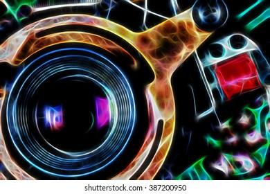 Analog camera as abstract background/Analog camera as abstract background