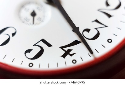 analog clock with numbers. time background
