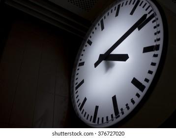 analog clock in subwaystation
