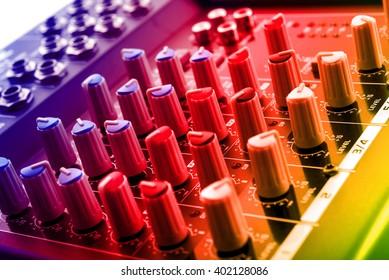 analog dj mixing console