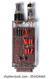 The analog memory element (1 bit) in the vacuum tubes of the old computer