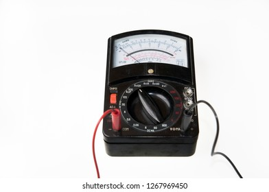 Analog multimeter being used as a voltmeter