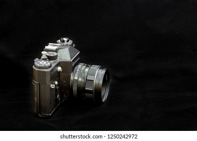 Analog SLR camera is 36*24. Made in the USSR. Interchangeable lens.