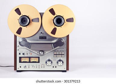 Analog Stereo Open Reel Tape Deck Recorder Player mit Metallschienen