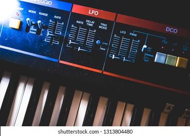 Analog Synthesizer Keyboard