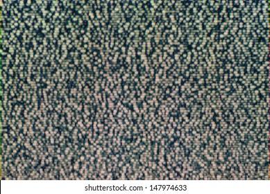 Analog TV CRT kinescope RGB noise. Texture - color TV screen - no signal.