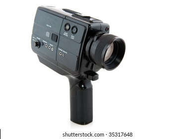 analogue black old movie camera for celluloid
