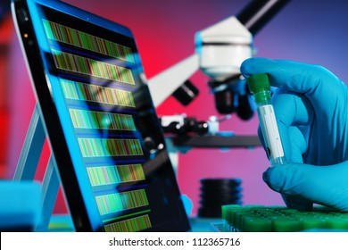 Analysis of DNA sequences in genetic laboratory