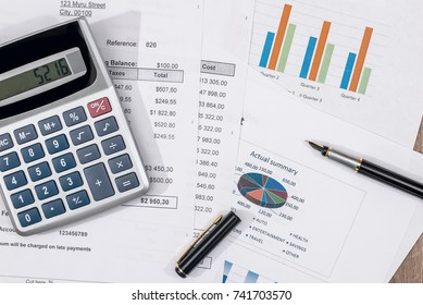 analysis  finance report, sales, savings. Business concept.