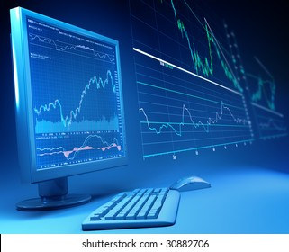 The analysis of financial statistics.