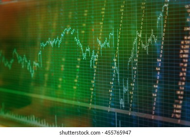 analysis graph chart of stock market investment trading