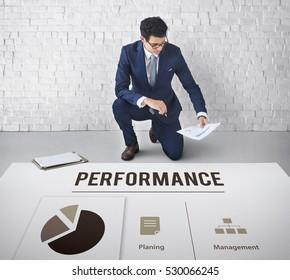 Analysis Growth Progress Performance Concept