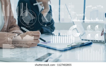 Analytics of business concept.