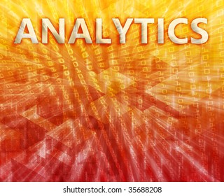 Analytics Business intellegence abstract, computer technology concept illustration
