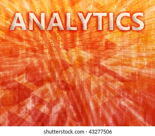 Analytics Business intelligence abstract, computer technology concept illustration