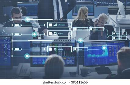 Analytics Report Status Information Analysis Chart Graph Concept