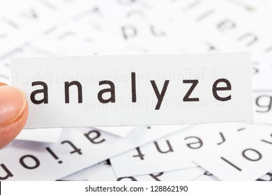 Analyze word on paper picked by finger to see close