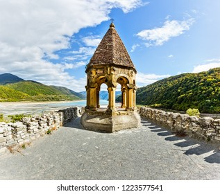 Ananuri is a castle complex on the Aragvi River in Georgia, about 72 kilometres from Tbilisi.