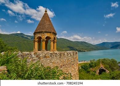 Ananuri Castle located on Georgian War Road in Georgia