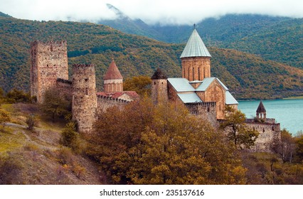 Ananuri castle. Republic of Georgia