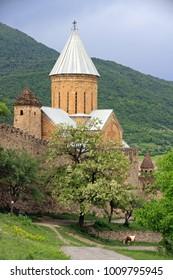 Ananuri - medieval castle, on Aragvi River, Georgia