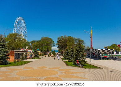 ANAPA, RUSSIA: Embankment in the resort city of Anapa before the start of the holiday season on May 14, 2021