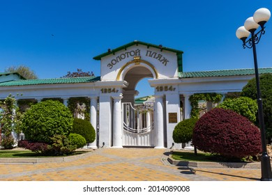 ANAPA, RUSSIA: The resort city of Anapa before the start of the holiday season on May 14, 2021. Buildings and attractions of Anapa