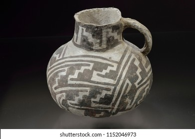 Anasazi black and white pitcher, Pueblo III Period, 1050-1250 AD, Mancos County, Colorado