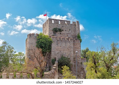 The Anatolian Fortress (Anadolu Hisari) is the oldest surviving Turkish architectural structure built in Istanbul was built by Yildirim Beyazit in Istanbul near Goksu Creek. Beykoz. TURKEY