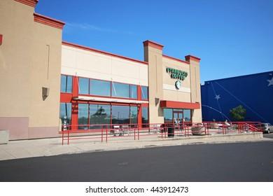 ANCASTER, CANADA - JUNE 26, 2016:Coffee shop in a bookshop chain in Ancaster, nr Hamilton, Ontario, Canada