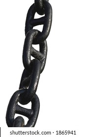 anchor chain on white background
