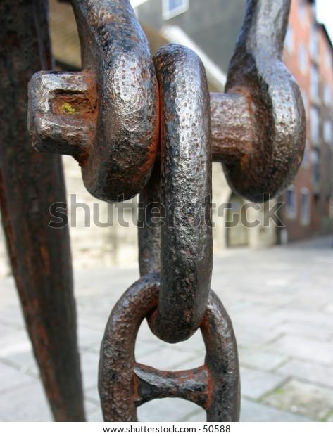 Anchor, Hasp & Chain (Detail)