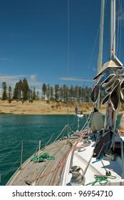 At anchor in Motuihe island