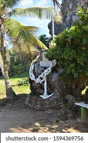 Anchor Statue at Puerto Hermina, PR