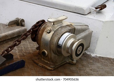 Anchor Windlass on the yacht