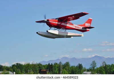 ANCHORAGE, AK -25 JUNE 2016- Located near the Ted Stevens Anchorage International Airport, the Lake Hood Seaplane Base (LHD) is the busiest seaplane base in the world.