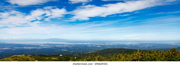 Anchorage Alaska Panoramic including Denali and Mt. Susitna
