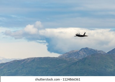 Anchorage, Alaska, USA - July 1, 2018: 2018 Arctic Thunder Air Show