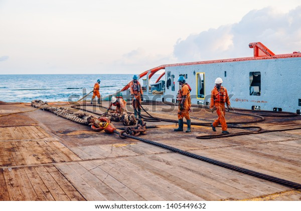 Anchorhandling Tug Supply Ahts Vessel Crew Stock Photo (Edit