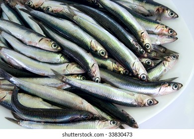 anchovies on plate