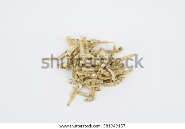 Anchovy (ikan bilis), isolated on isolated white background