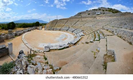 Anciecent theatre at Filipi, Kavala, Greece