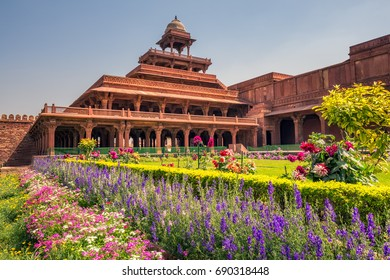 Ancient abandoned city of Fatehpur Sikri n the Agra District of Uttar Pradesh, India.