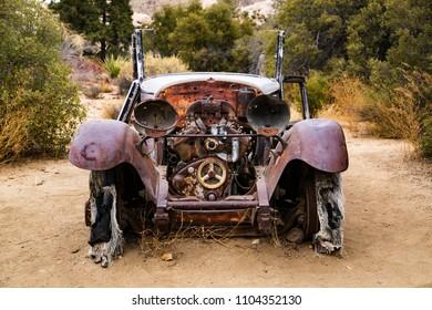 Ancient Abandoned  Pickup Truck at Joshua Tree