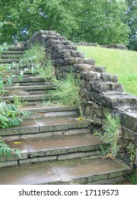 Ancient abbey stairway.