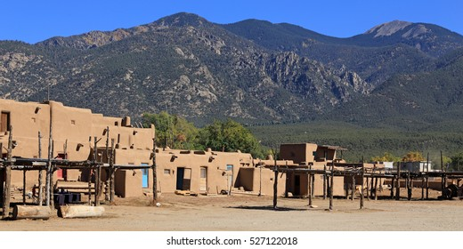 Ancient adobe dwellings of Taos Pueblo, still inhabited today, draw visitors from around the world.
