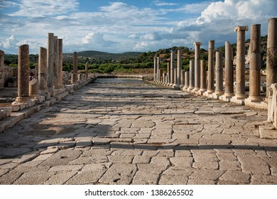 The ancient Agora in the archaeological site of Patara