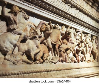 Ancient Alexander's Sarcophagus Detail, Istanbul.