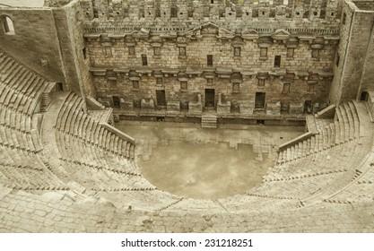 Ancient amphitheater Aspendos in Antalya, Turkey.